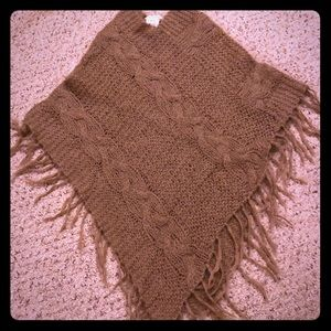 Max Studio knitted poncho one size